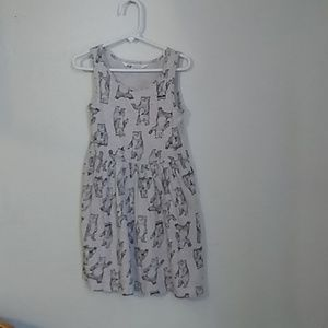 Hm girl dress size 6 pink with black bears
